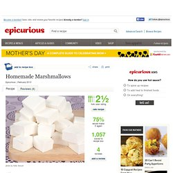 Homemade Marshmallows Recipe at Epicurious