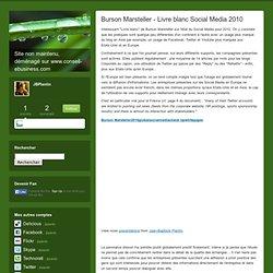 Burson Marsteller - Livre blanc Social Media 2010 - JBlog Pro, b