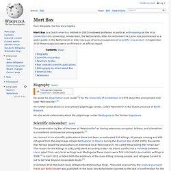 Mart Bax - wikipedia