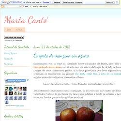 Marta Cantó: Compota de manzana sin azucar