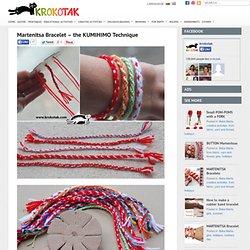 Martenitsa Bracelet – the KUMIHIMO Technique