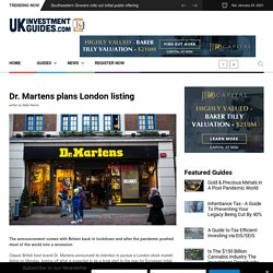 Dr. Martens plans London listing