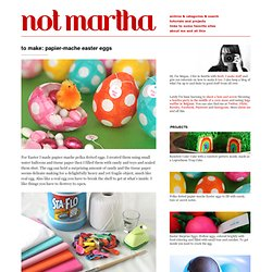 not martha - to make: papier-mache easter eggs - StumbleUpon
