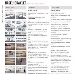 Martha Rosler – Galerie Nagel Draxler