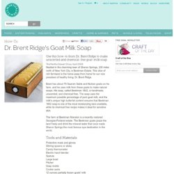 Dr. Brent Ridge's Goat Milk Soap - Martha Stewart Crafts by Material