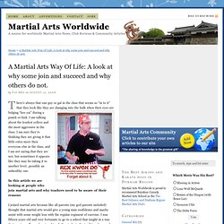 Martial Arts World Wide - Martial Arts News, Martial Arts Club Reviews and Community Articles