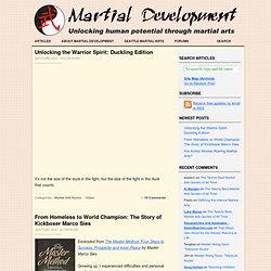 Martial Development — Martial arts for personal development