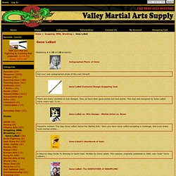 Gene LeBell : Valley Martial Arts Supply: Legitimate Martial Arts equipment for legitimate Martial Artists, Since 1976