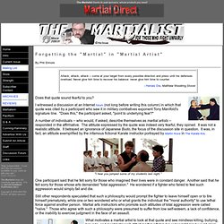 The Martialist: The Magazine For Those Who Fight Unfairly