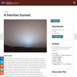 A Martian Sunset – NASA's Mars Exploration Program