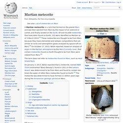 snc meteorite