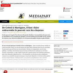 De Créteil à Martigues, il faut «faire redescendre le pouvoir vers les citoyens»