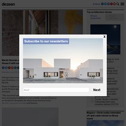 Martin Skoček contrasts modern facade of House V with brick interiors