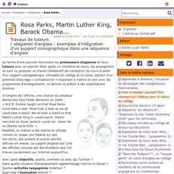 Rosa Parks, Martin Luther King, Barack Obama...- Anglais