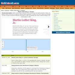 Martin Luther King timeline REGULAR