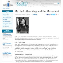 Martin Luther King and the Movement