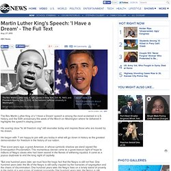 alliteration in speech i have a dream Alliteration allusion  parallel structure is repetition of the same pattern of words or phrases within a sentence or passage to show that two or more ideas have.