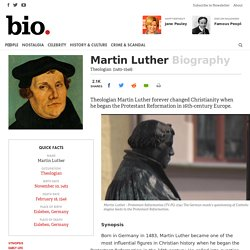 Martin Luther - Biography - Theologian