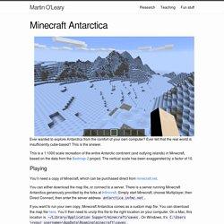 Minecraft Antarctica