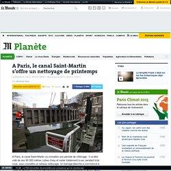 04/01/16 A Paris, le canal Saint-Martin s'offre un nettoyage de printemps
