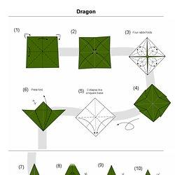 Martin's Origami: Dragon