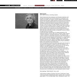 Martin Rauch | Loam Clay Earth, Martin Rauch, Vorarlberg
