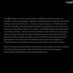 Martin Scorsese, histoires de New York