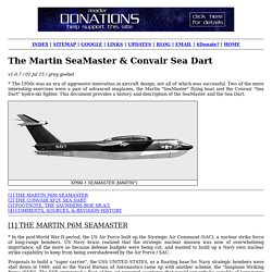 The Martin SeaMaster & Convair Sea Dart