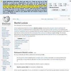 Martin's axiom