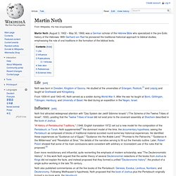 Martin Noth