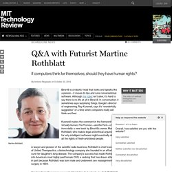 Martine Rothblatt on the Rights of Virtual Humans