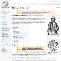 Martinès de Pasqually (1727-1774)