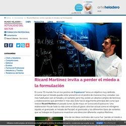 Ricard Martínez invita a perder el miedo a la formulación. Noticias en Arte Heladero