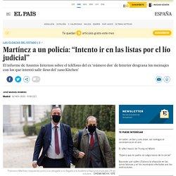 """Martínez a un policía: """"Intento ir en las listas por el lío judicial"""""""