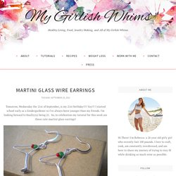 Martini Glass Wire Earrings - My Girlish Whims