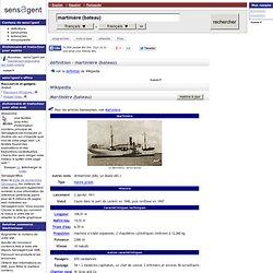 martinière (bateau) : definition of martinière (bateau) and synonym of martinière (bateau) (French)