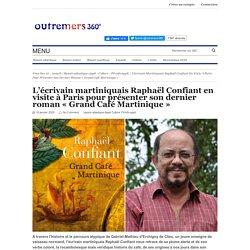 L'écrivain martiniquais Raphaël Confiant en visite à Paris pour présenter son dernier roman « Grand Café Martinique »...