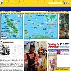 Map of Martinique - Caribbean Island Maps, Martinique Map Information