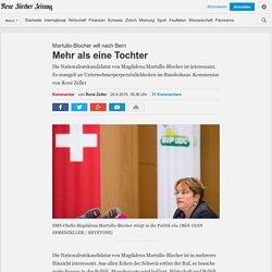 Martullo-Blocher will nach Bern: Mehr als eine Tochter - NZZ Meinung