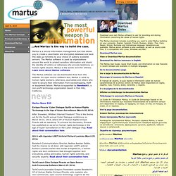 Martus.org -- Human Rights Bulletin System