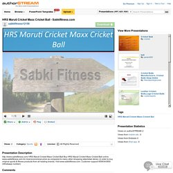 HRS Maruti Cricket Maxx Cricket Ball - Sabkifitness.Com