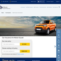 Maruti Suzuki Car Insurance: Buy/Renew Car Insurance for Maruti Suzuki Vehicles Online