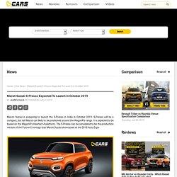 Maruti Suzuki S-Presso (Renault Kwid Rival) India Launch Soon