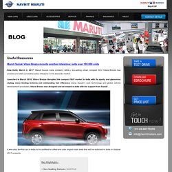 Maruti Suzuki Vitara Brezza Car Dealer in Thane