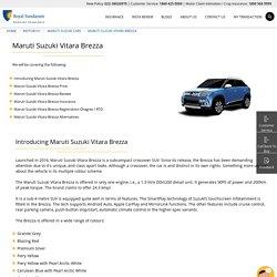 Maruti Suzuki Vitara Brezza Car Review, Price, RTO & Insurance