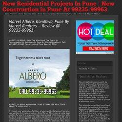 » Marvel Albero, Kondhwa, Pune By Marvel Realtors