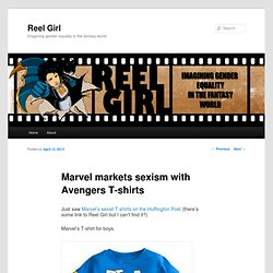 Marvel markets sexism with Avengers T-shirts