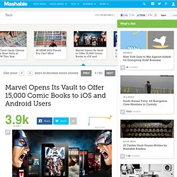Marvel Opens Its Vault to Offer 15,000 Comic Books to iOS and Android Users