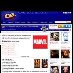 Marvel August, 2011