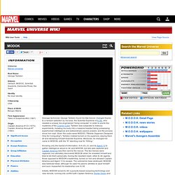 MODOK - Marvel Universe Wiki: The definitive online source for Marvel super hero bios.